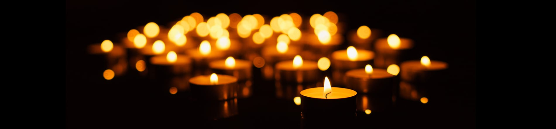 Pet Remembrance in Altadena: Tealight Candles Burning in the Dark